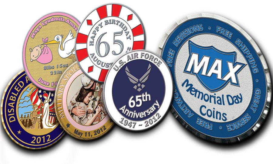 Challenge Coins can be Used as Memorial Day Coins